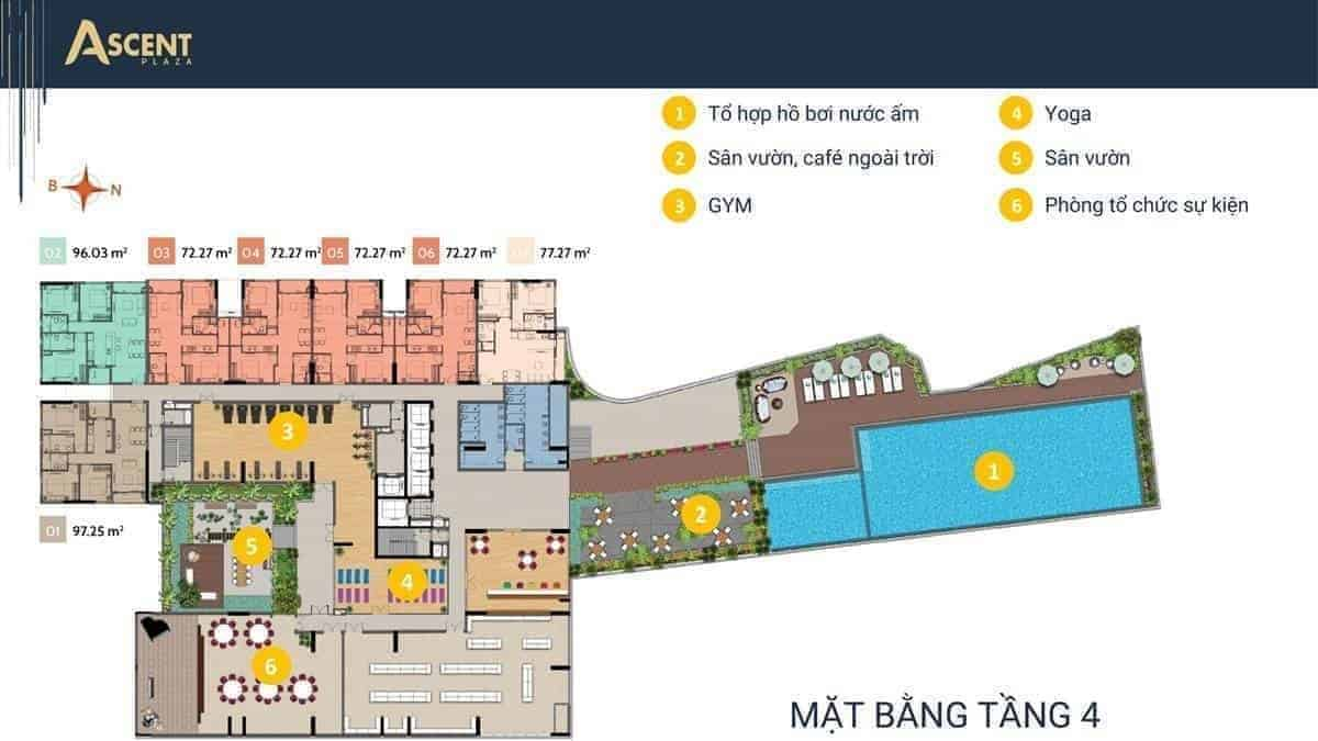 Mặt bằng tầng 4 Ascent Plaza