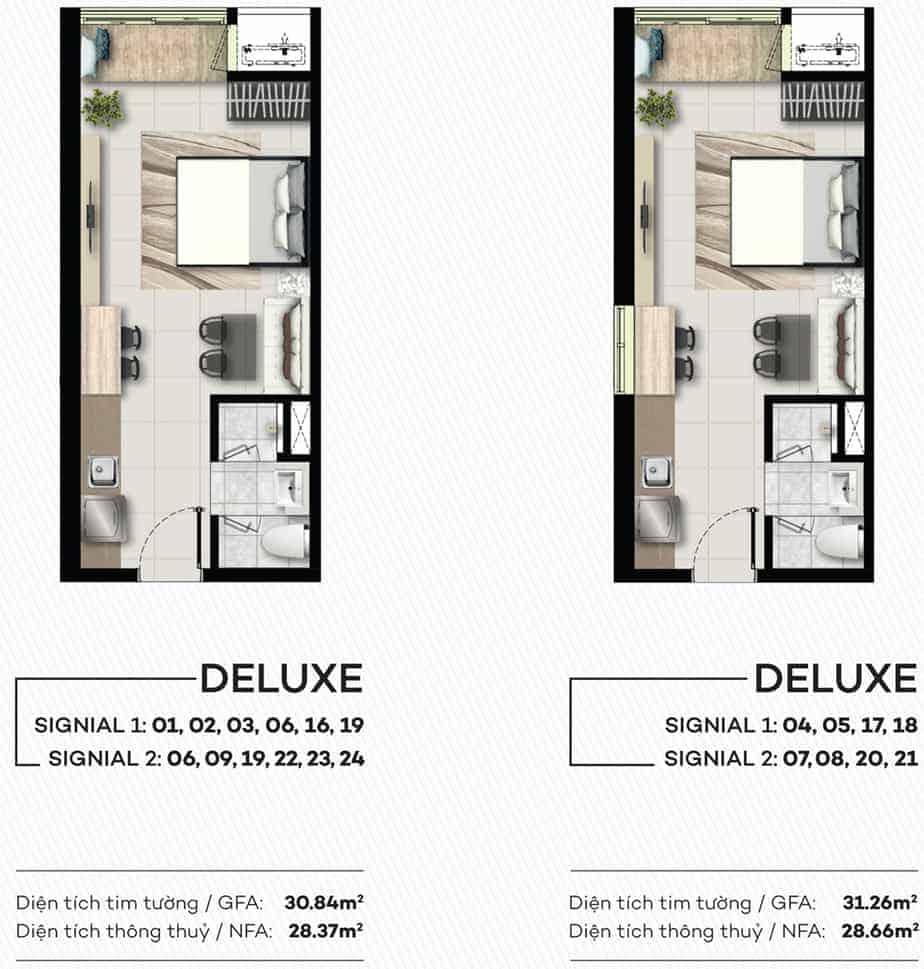 Thiết kế Căn Hộ Smartel Signial Quận 7