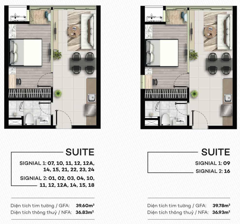 Thiết kế căn hộ Smartel Signial 39m2