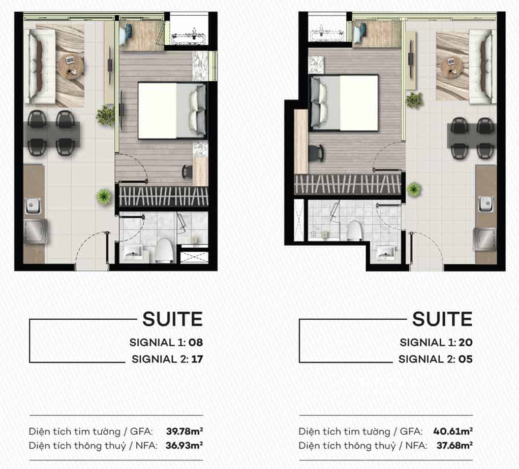 Thiết kế căn hộ Smartel Signial Quận 7 40m2