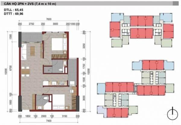 Căn hộ 2 Phòng Ngủ Charm City HBH