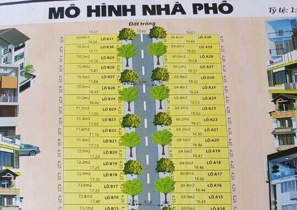 Bản vẽ dự án phân lô trái phép của Công ty TNHH Đầu tư Địa ốc Tiến Thêm