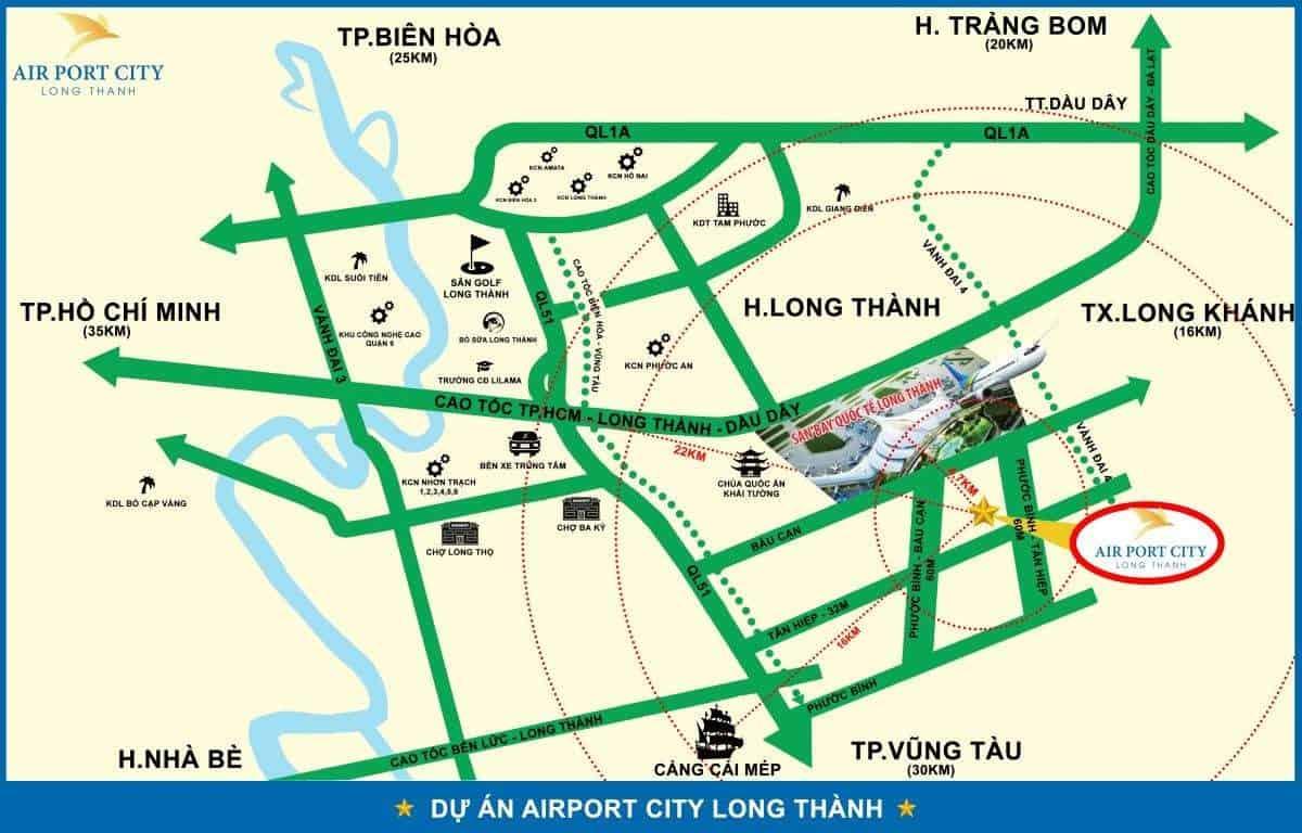 Vị trí dự án Long Thành Airport