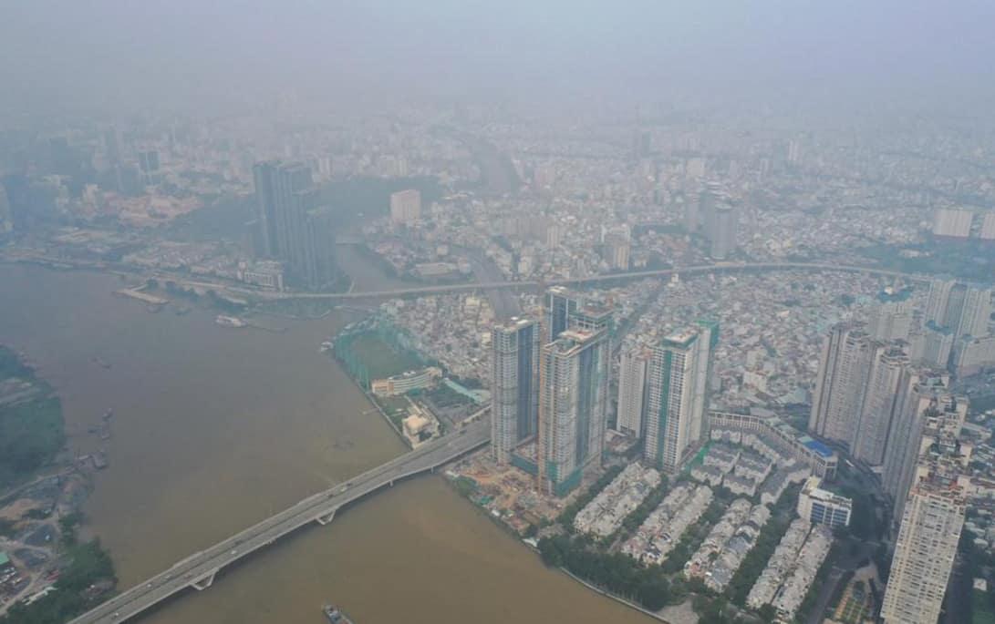 Mù bao phủ TP. Hồ Chí Minh