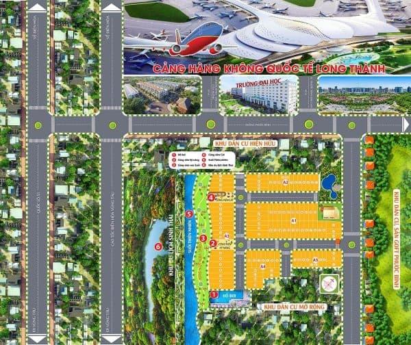 Mặt bằng phân lô dự án Long Thành Village