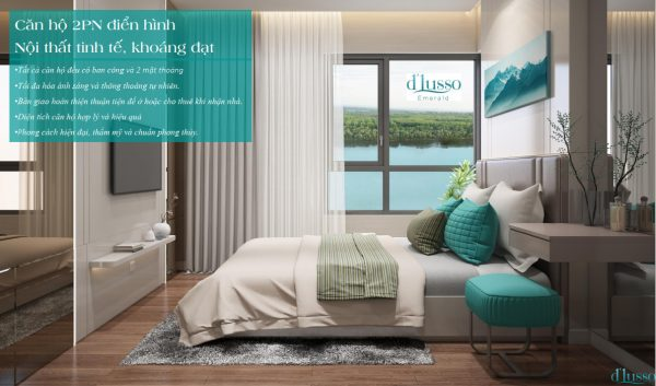 Phối cảnh phòng ngủ căn hộ D'Lusso