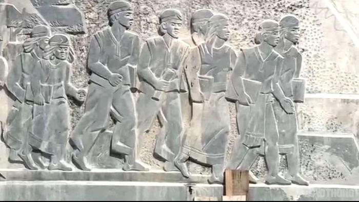 Hình ảnh điêu khắc trên tượng đài