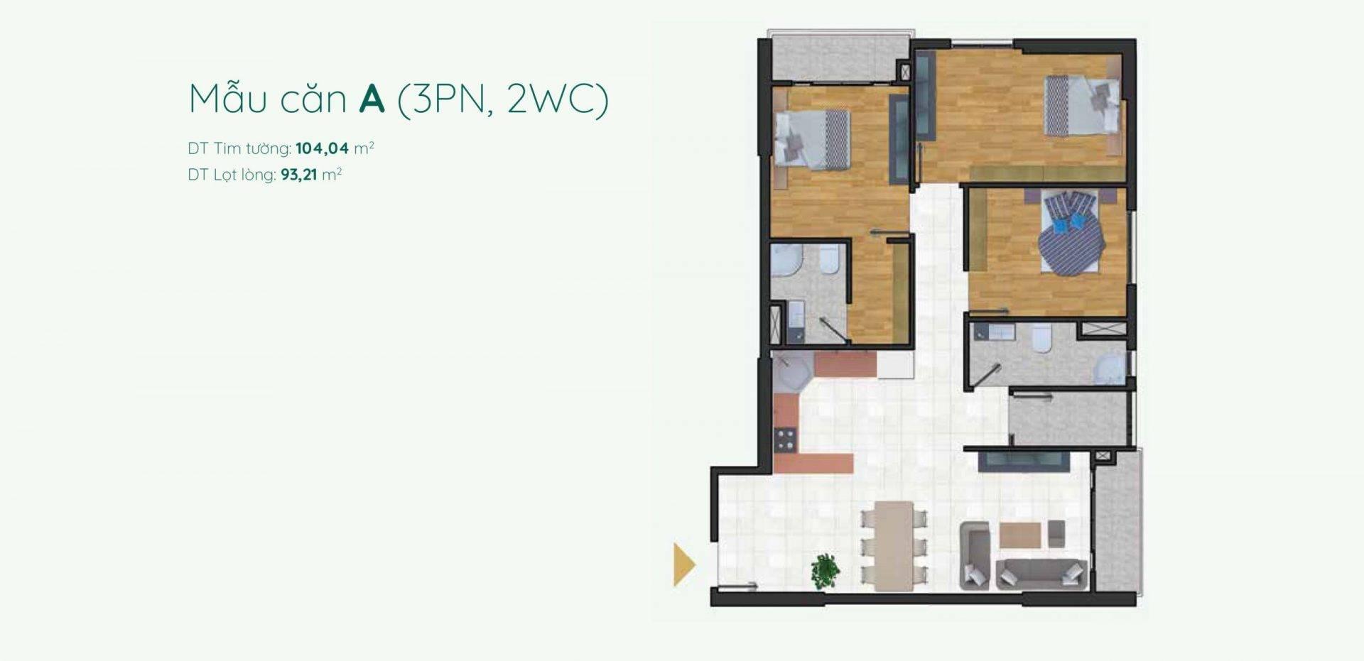 Thiết kế mẫu A căn hộ Minh Quốc Plaza